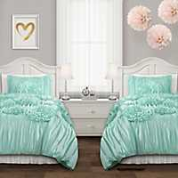 Aqua Serena 2-pc. Twin XL Comforter Set