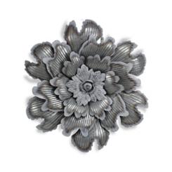 Galvanized Metal Flower Plaque