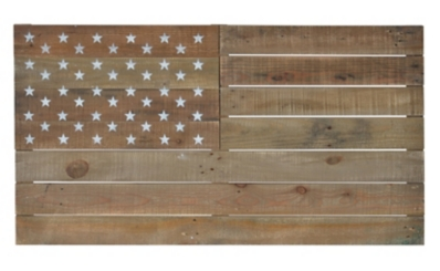 Wooden American Flag Wall Plaque