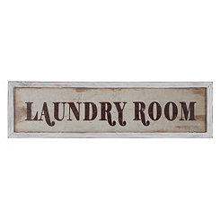 Laundry Room Framed Wood Wall Plaque