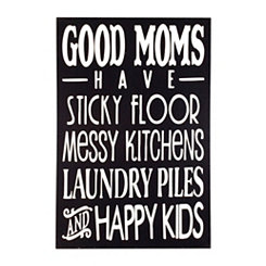 Good Moms Wooden Wall Plaque