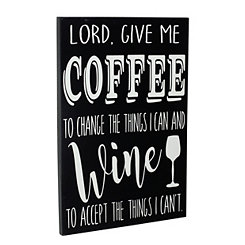 Give Me Coffee Wooden Wall Plaque