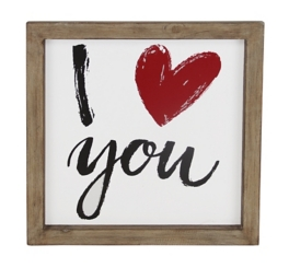 I Love You Wooden Wall Plaque