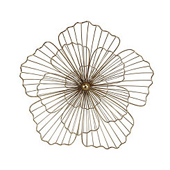 Gold Metal 3D Flower Plaque, 22 in.