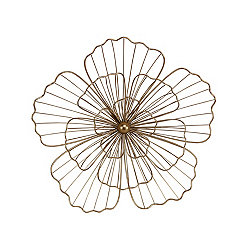 Gold Metal 3D Flower Plaque, 16 in.