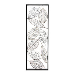 Framed Metal Leaves Panel