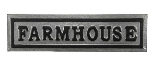 Galvanized Metal Farmhouse Plaque