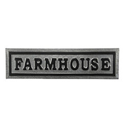 Galvanized Metal Farmhouse Plaque