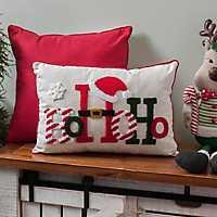 Fuzzy Ho Ho Ho Accent Pillow