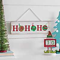Ho Ho Ho Ornament Christmas Plaque