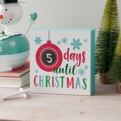 Days Til Christmas Word Block