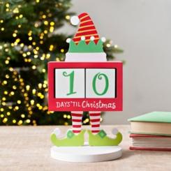 Wooden Elf Days Til Christmas Counter