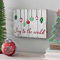 LED Joy to the World Ornament Plaque