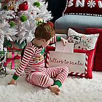 Letters to Santa Accent Pillow