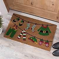 Elf Clothesline Doormat