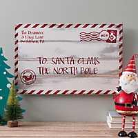 Santa Claus Letter Christmas Plaque