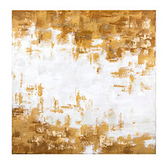 Glam Gold Stroke Canvas Art Print