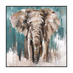 Sebastian Elephant Framed Canvas Art Print