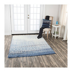 Blue Edward Abstract Area Rug, 5x7