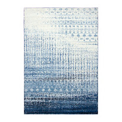 Blue Edward Abstract Area Rug, 8x10