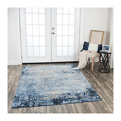 Blue Edward Overdye Area Rug, 5x7