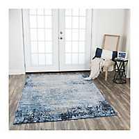 Blue Edward Overdyed Area Rug, 8x10