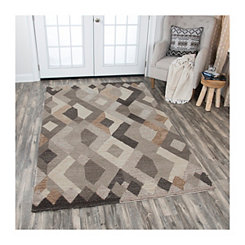 Tan Idell Geometric Area Rug, 5x8