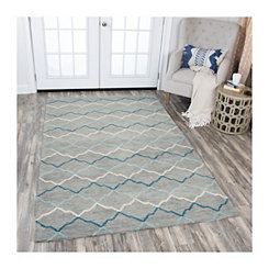Gray Reso Geometric Area Rug, 5x8
