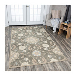 Brown Reso Floral Area Rug, 5x8
