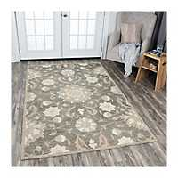 Brown Reso Floral Area Rug, 8x10