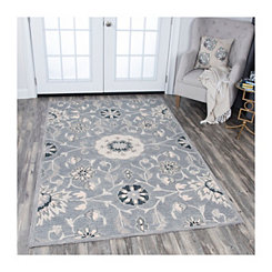 Gray Reso Floral Area Rug, 5x8