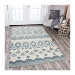Multicolor Reso Geometric Area Rug, 8x10