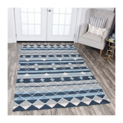 Blue Reso Geometric Area Rug, 5x8
