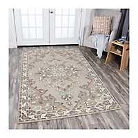 Tan Reso Central Medallion Area Rug, 5x8