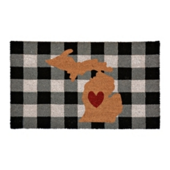 Plaid Michigan State Doormat