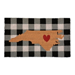 Plaid North Carolina State Doormat