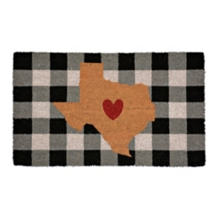 Plaid Texas State Doormat