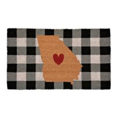 Plaid Georgia State Doormat