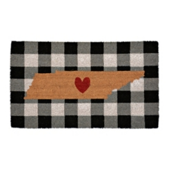 Plaid Tennessee State Doormat