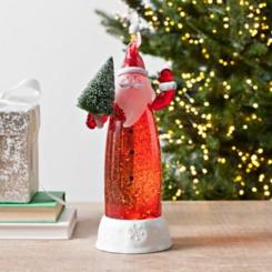LED Santa Water Globe