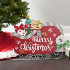 Christmas Sleigh with Gifts Easel