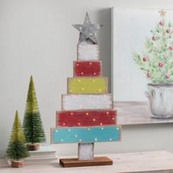 Multicolor Blocks LED Christmas Tree Statue