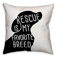 Black and White Rescue Breed Pillow