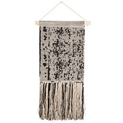 Black Speckled Macrame Wall Hanging