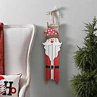 Santa Sled Christmas Plaque