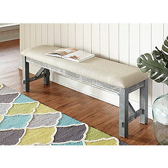 Tegan Gray Wooden Bench