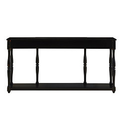Black Crackle Finish Console Table