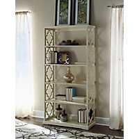 White Quatrefoil Bookshelf