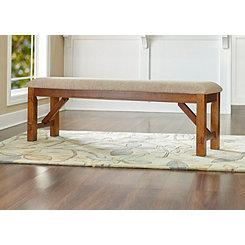 Hazelnut Wooden Bench
