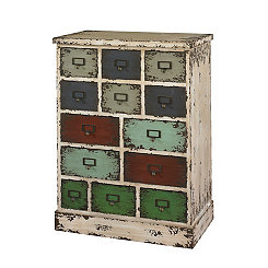 Multicolor Apothecary 13-Drawer Cabinet